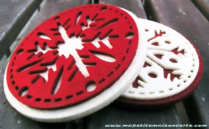 Re Purposing Round Felt Ornaments Ma Petite Maison Verte