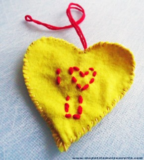 conversation heart ornament