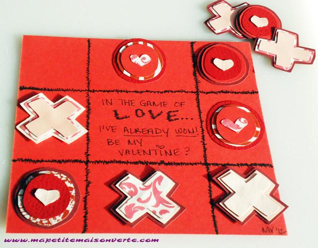 Diy xoxo tic tac toe valentine ma petite maison verte for Best handmade gifts for boyfriend